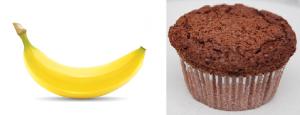 banaan versus brownie