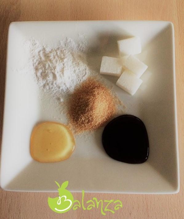 soorten suiker op bord