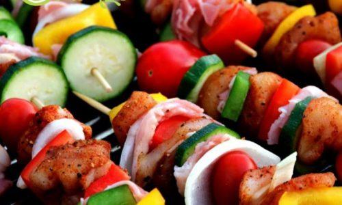 gezonde barbecue spiesjes