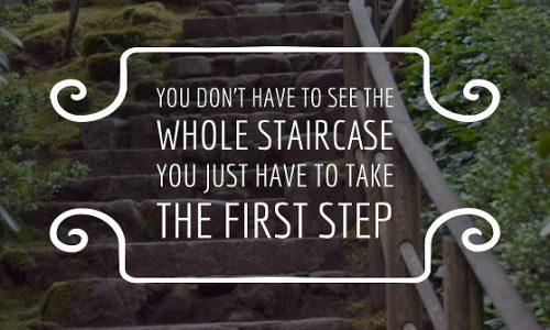 kleine stapjes treden