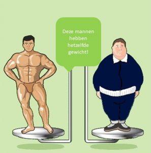 gewicht is maar een getal