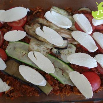 recept lasagna courgette mozzarella tomaat