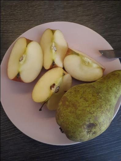 Gezonde smoothie met peer en appel