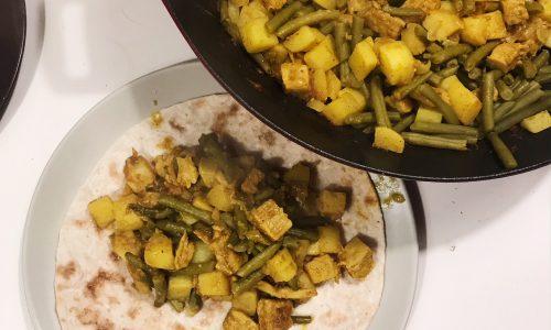 Vegetarische Surinaamse roti