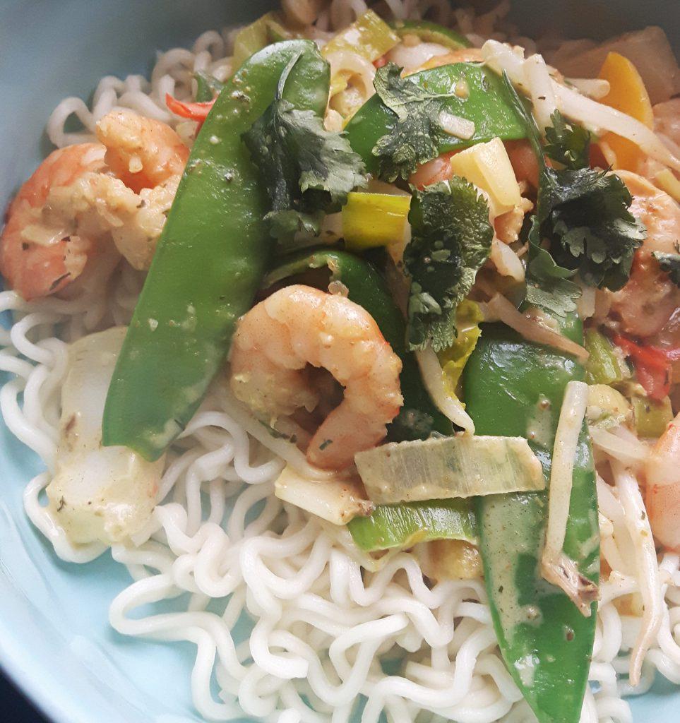 snelle groene curry voor doordeweeks