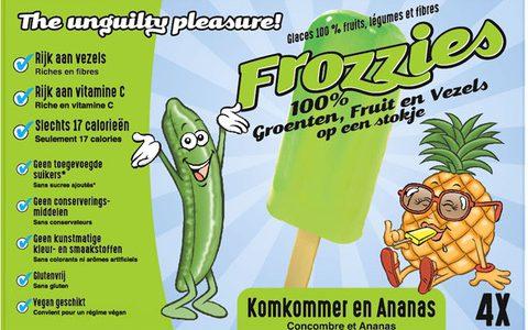 Vezelrijke groente ijsjes